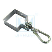 SQUARE COLLAR HOOK,WITH SNAP HOOK,ZINC PLATED SF-2002
